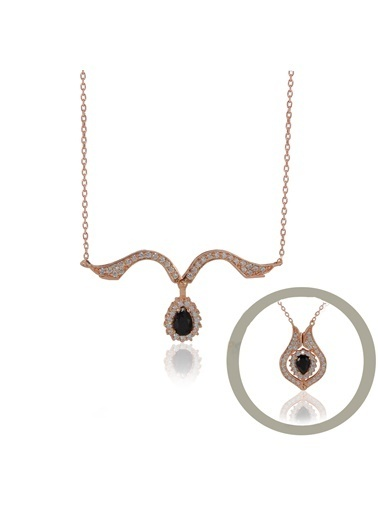 Lale İkili Kolye-Söğütlü Silver